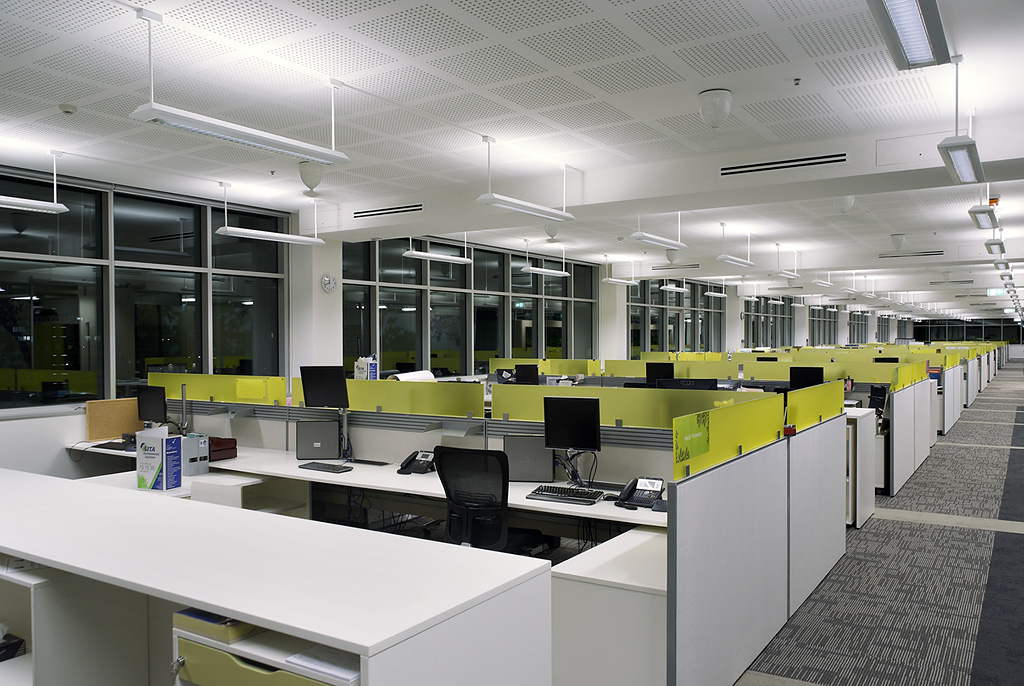 Indirect Office Lighting GrayLight William McCormack Place Stage 2 Cairns