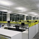 Direct-indirect lighting provides for high levels of visual comfort and performance.